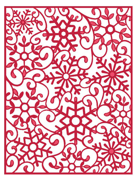 CREATIVE EXPRESSIONS Sue Wilson  FESTIVE COLLECTION Frosty Mini Backgrd CED3024