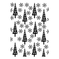 Crafts4U Embossing Folder 10.6cm x 15cm Snowy Christmas Trees
