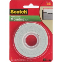 Scotch Foam Mounting Tape 1/2 Inch x 75 inch (1.27cm x 1.9m)