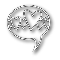 Poppystamps Die Heart Word Balloon 1133
