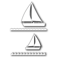 Poppystamps Die Marina Sailboats 1152