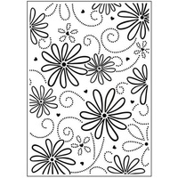 DARICE Embossing Folder Large Petal 10.5cm x 14.5cm