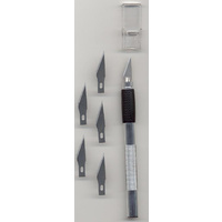 Craft Knife plus Spare Cutting Blades x 5