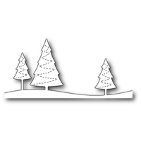 Poppystamps Dies Stitched Evergreen Trees 1304