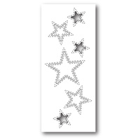 Poppystamps Dies Stitched Star Cutouts 1308