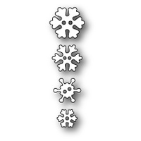 Poppystamps Die Frosty Snowflake Buttons 1545