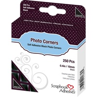 3L Photo Corners Self Adhesive 250/Pkg Black