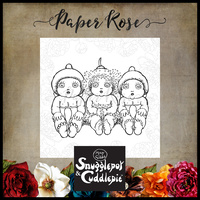 Paper Rose Clear Stamp Set Snugglepot & Cuddlepie 17280