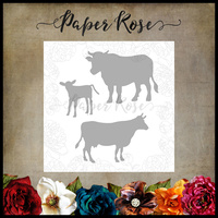 Paper Rose Dies Cow Family 17724