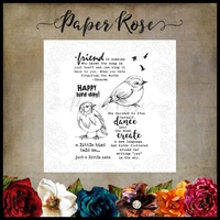Paper Rose Clear Stamp Set Bird Day 17802