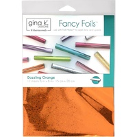 Dazzling Orange Hologram Gina K Designs Fancy Foil 6X8 12/Pkg