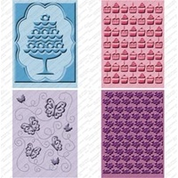 CUTTLEBUG Embossing Folder Set Once Upon a Princess 2 x A2 size folders and 2 larger 5x7 folders