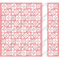 CUTTLEBUG Embossing Folder Flower Folk Border Set 4.25x5.5