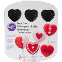 Wilton Valentine Nonstick 9 Cavity Heart Pops Pan Great for Cake Pops