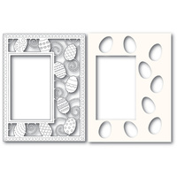Poppystamps Die Decorated Egg Sidekick Frame and Stencil 2182