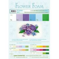 Flower Foam 6 A4 Sheets Blue/Violet Set 5