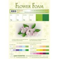 Flower Foam 6 A4 Sheets White/Green Set 5
