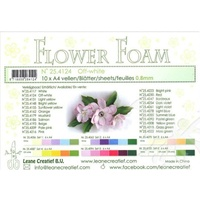Flower Foam 10 A4 Sheets Off-White