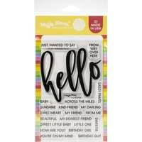 Waffle Flower Crafts Clear Stamps Oversized Hello