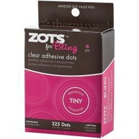 Zots Clear Adhesive Dots 325 Tiny Acid Free Adhesive Made in USA by Therm O Web