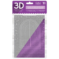 Crafter's Companion 3D Embossing Folder 5X7 Country Cottage