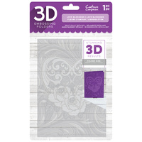 Crafter's Companion 3D Embossing Folder 5X7 Love Blossom