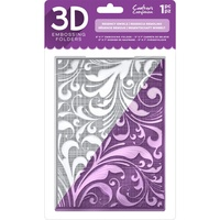 Crafter's Companion 3D Embossing Folder 5X7 Regency Swirls