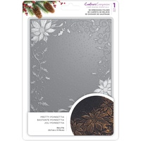 Crafter's Companion 3D Embossing Folder 5X7 Pretty Poinsettia