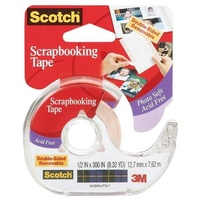 Scotch Scrapbooking Tape Double-Sided Removable 12.7mm x 7.62m