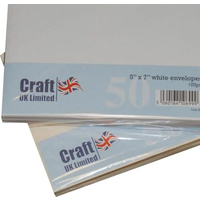 Craft UK Limited 50 White Envelopes 5x7 Envelopes A7