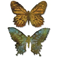 Sizzix Bigz Die Tim Holtz Butterfly Duo with Embossing Folder 660236