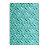 Sizzix 3D Textured Impressions Embossing Folder Woven 661261