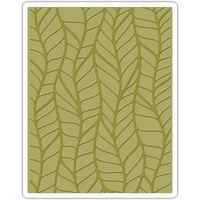 Sizzix Tim Holtz Texture Fades Embossing Folder Leafy 661826
