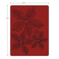 Sizzix Tim Holtz Texture Fades Embossing Folder Tattered Poinsettia 662198