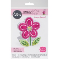 Sizzix Framelits Die Set 10PK Flower Fold-Its 662260