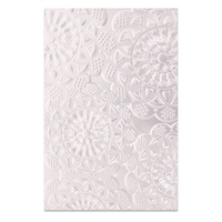 Sizzix 3D Textured Impressions Embossing Folder Doily 662265