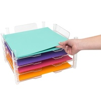 We R Memory Keepers 12x12 Stackable Acrylic Paper Trays 4/pk 662587