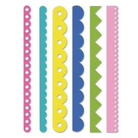 Sizzix Edgelits Dies Scallops and Zigzags 6/Pkg 662735