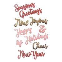 Sizzix Thinlits By Jen Long Christmas Phrases #2 663172