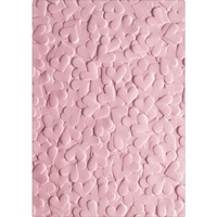 Sizzix 3D Textured Impressions Embossing Folder Confetti Hearts 663201