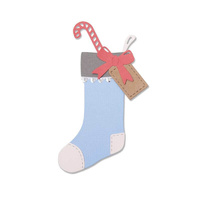 Sizzix Thinlits Set by Sophie Guitar 7pk Christmas Stocking 663426