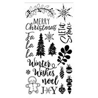 Sizzix Clear Stamp Set Winter Phrases 663614