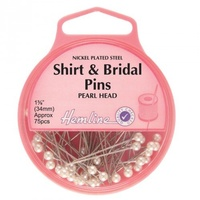 Pins Hemline Shirt & Bridal Pins Pearl Head