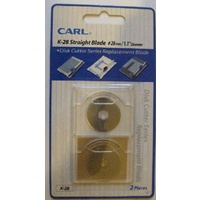 CARL K28 Rotary Straight Blade x 2 for DC200, DC210, DC230