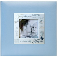 8x8 Scrapbooking Photo Album MBI Expressions Blue Baby Boy Album with Window