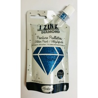 Izink Diamond Glitter Paint 80ml Bleu (Blue)