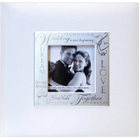 8.5x8.5 MBI Expressions White Wedding Photo Album with Window