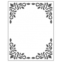 Crafts4U Embossing Folder 10.5cm x 14.5cm Decorative Frame One