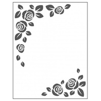 Crafts4U Embossing Folder 10.5cm x 14.5cm Rose