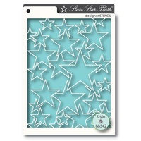 Memory Box Stencil Star Flash 88542